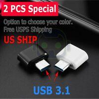 2-Pack USB C Adapter Hi-speed OTG USB Type C to USB-A 3.0 Convertor