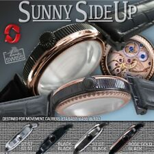 "WATCH CASE ""SUNNY SIDE UP"" fit ETA 6497,6498, GRAVIATOR BL109, RG-BLACK, 46mm"