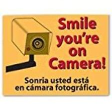 """Smile You're on Camera Sign, 9"""" x 12"""""""