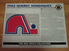 "1982 QUEBEC NORDIQUES Replica 7"" Patch PETER STASTNY"