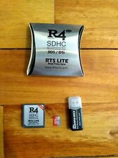 R4 SDHC Revolution for DS/3DS w/ Micro SD to USB Adapter and 32gb Micro SD Card