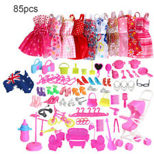 AU! 85 Items For Barbie Doll Dresses, Shoes,jewellery Clothes Set Accessories