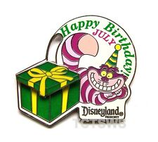 Disney 3D Slider Pin Cheshire Cat Birthday of the Month July w/ Gift Box LE 1000