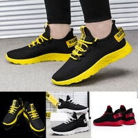 Mens Sneakers Trainers Breathable Sport Running Boys Casual Shoes Gym UK STOCK