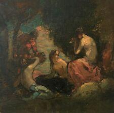 Baigneuses, Huile sur toile, Ecole symboliste, XIXe