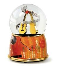 Schneekugel XL mit Spieluhr Gitarre,15 cm,Souvenir Musik Konzert