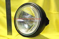 Motorcycle Head light Yamaha DT250 Enduro 6in Black Back w 12Volt Bulb