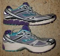 Brooks Ghost 5 Women's Running Shoes - White/Purple - Size 9.5