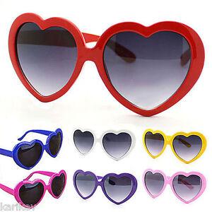 Retro Love Heart Shape Sunglasses Oversized Cat Eye Girls Fancy Dress Hen Party