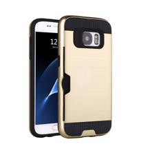 Samsung Galaxy S7 Edge Handy Hülle Hard Case Schutzhülle Cover Etui Bumper Gold
