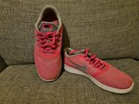Nike Free RN Run Pink Trainers Running Shoes Size UK 5.5 Reflective nike tick