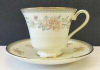 Set/2 Royal Doulton Minton Jasmine Cup & Saucer Sets - Fine Bone China Porcelain