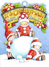 Mary Engelbreit-Snow Babies Have A Ball-Sunrise Christmas Card-New!