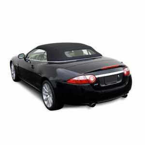 Jaguar XK/XKR Convertible Top W Heated Glass 2007-15 Black Twillfast Cloth