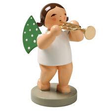 Wendt & Kuhn Marching Brunette Angel Trumpet Figurine