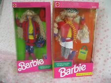 1990 United Colors of Benetton Barbie #9404 & 1991 Shopping #4873 Dolls New Lot
