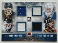 2012 ITG Between The Pipes Smith Bouchard Hextall Brodeur Jersey Card