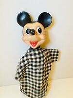 Vintage Toys Disney 1950s Mickey Mouse Hand Puppet by Gund