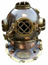 "US Navy Mark V Copper Antique Diving Helmet 18"" inch Full Size Christmas Gift"