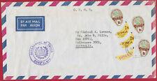 TONGA TOGA c.1970's OHMS Govt 9s Coconut 1s 2s Bananas Air Mail Cover Australia