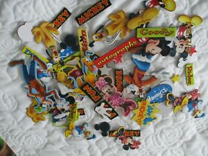 over 50 chipboard Disney themed embellishments new