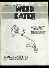 Rare Vintage Factory Weed Eater GTI 15 Gas Powered String Trimmer Owner's Manual