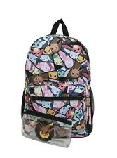 "Pokemon Eevee Evolutions Characters 17"" Backpack With Vinyl Pencil Case NWT!"