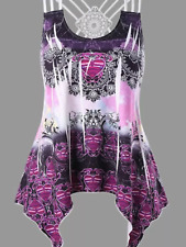 Ladies colourful heart 3 strap top lace design on back summer t-shirt vest top
