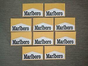 10 pcs Fashion Marlboro Yellow Color Logo Badge Sew Iron on Embroidered Patch