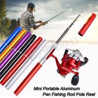 Mini canne à pêche en aluminium de stylo de poche de canne à pêche bobine 5.: