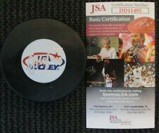 Jack Hughes New Jersey Devils ? Signed Team Usa Puck Jsa Certified Coa Dd11495