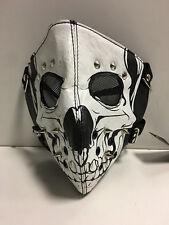 Gesichtsmaske mit Totenkopfgesicht - Kunstleder