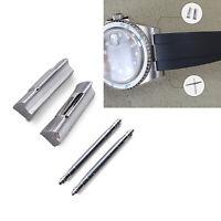 20mm Curved End Links + Spring Link Bars Steel Wrist Watch Bracelet Strap Links