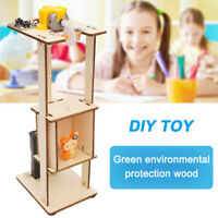 DIY Assemble Electric Lift Toy Kids Science Experiment Material Kit Toys Gift