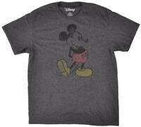 Disney Mickey Mouse Steamboat T-Shirt Men's Disneyland Heather Charcoal