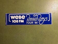 Original Webe 108 Fm Beach Boys 1986 Tour Bumper Sticker
