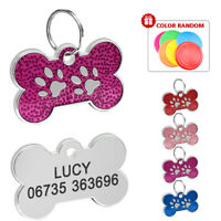 Personalised Dog Tags Custom Cat Puppy Pet ID Tags Disc Engraved 31mm Free Gift