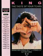 King - The Taste Of Your Tears - Tour Dates / Poster / Advert - 27.5cm x 20.9cm