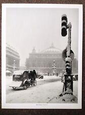 Robert Doisneau PRINT Vintage 2004 Photography Art Paris Rickshaw Taxi Snow