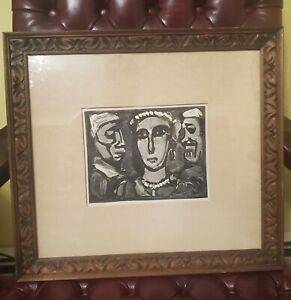 Georges Rouault - Les Visages,1932 Woodblock print on paper(after print)restrike