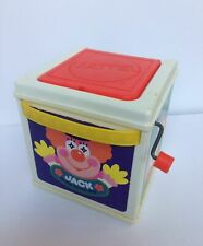 Vintage Mattel 1987 Jack In The Music Box Clown Pops Up Plays Music - Works!