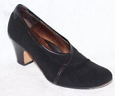 Taryn Rose Black Stretch Fabric & Leather Pumps Heels  Women's 38.5 / 8
