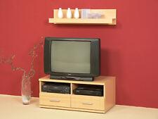 Fernsehschrank Lowboard TV-Unterschrank TV Schrank mit Wandboard Buche Front MDF