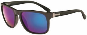 ONE Ziggy Polarized Sunglasses: Matte Black with Smoke Green Mirror Lens