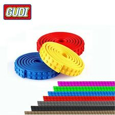 Lego Compatible Green Flexible Baseplate Strip Brick Building 2x32 Dots Play