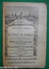 LE NEVEU DE RAMEAU LES SALONS DE 1761 DIDEROT BIBLIOTHEQUE NATIONALE PFLUGER