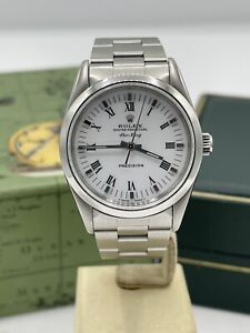 Rolex Air-king 14000 34mm Stainless Steel White Dial Box & Papers 1997