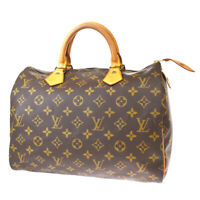 Auth LOUIS VUITTON Speedy 30 Travel Hand Bag Monogram Leather M41526 84MF856