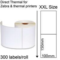 300 Direct thermal labels roll 100x150mm Zebra printer Fastway EParcel Startrack