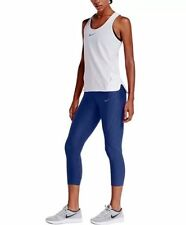 Nike 801043 Womens $110 Blue XS Power Epic Tights Training Cropped Pants NEW